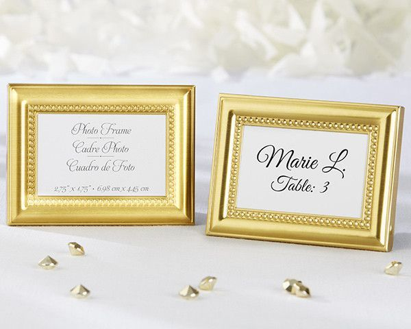 Beautifully Beaded Gold Photo Frame/Place Holder | Place holder ...