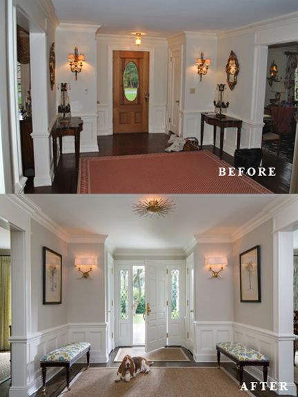 Wonderful Ken Gemes Interiors   Manhattan Ave   Entry Foyer   Before And After