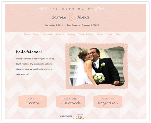 Wedding Websites Ideas: Creative Wedding Website: Wedding JOJO
