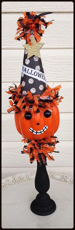 Jack o Lantern Halloween Decoration Halloween Ornament by JeanKnee