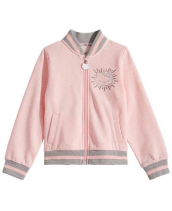 c00a87cf3881 Hello Kitty Toddler Girls Fleece Bomber Jacket - Pink 3T