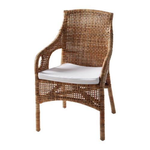 majby chair with armrests rattan white sarah richardson used these in her farmhouse. Black Bedroom Furniture Sets. Home Design Ideas