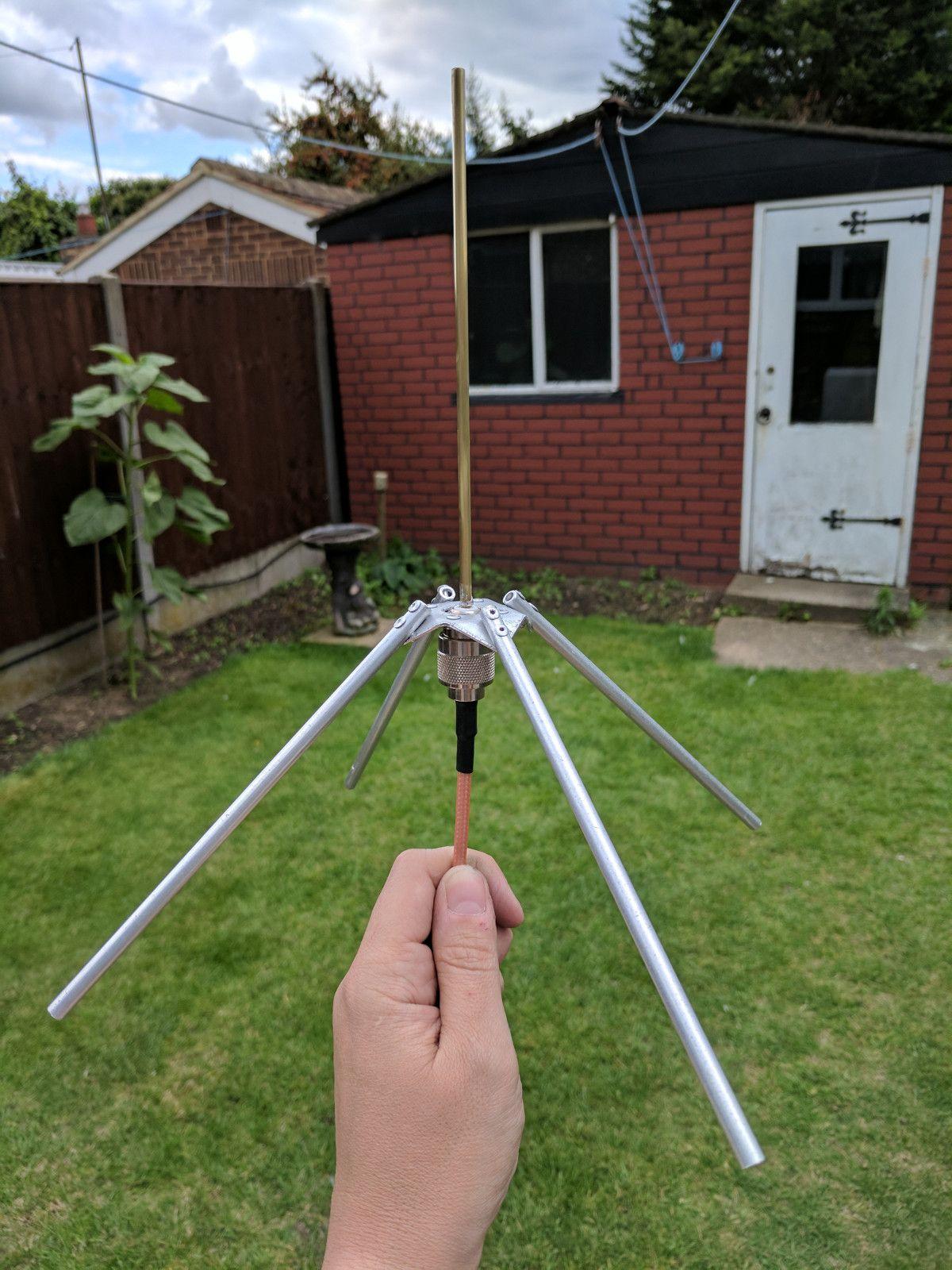 70cm Band Quarter Wave Ground Plane Ham Radio Antenna Antenna Radio Antenna
