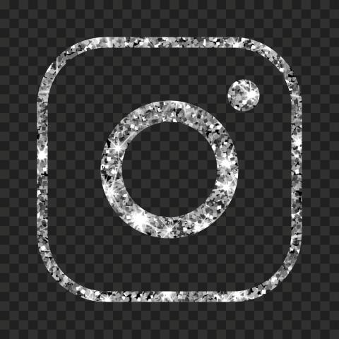 Hd Aesthetic Silver Glitter Instagram Ig Logo Icon Png Logo Icons Icon Silver Glitter