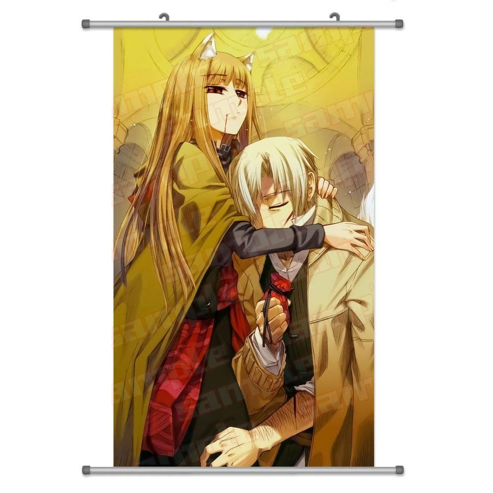KINGS ZW A Wide Variety of Spice & Wolf Anime Characters Wall Scroll Hanging Decor (Kraft (Craft) Lawrence & holo 3)