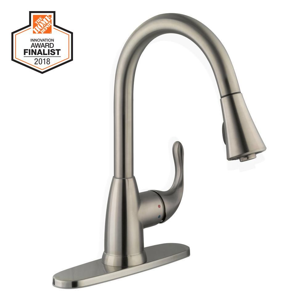 Glacier Bay Market Single Handle Pull Down Kitchen Faucet With