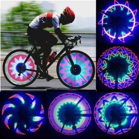 Colorful 32-Pattern 32 LED Waterproof Bicicleta Luces Accessories Cycling Lights
