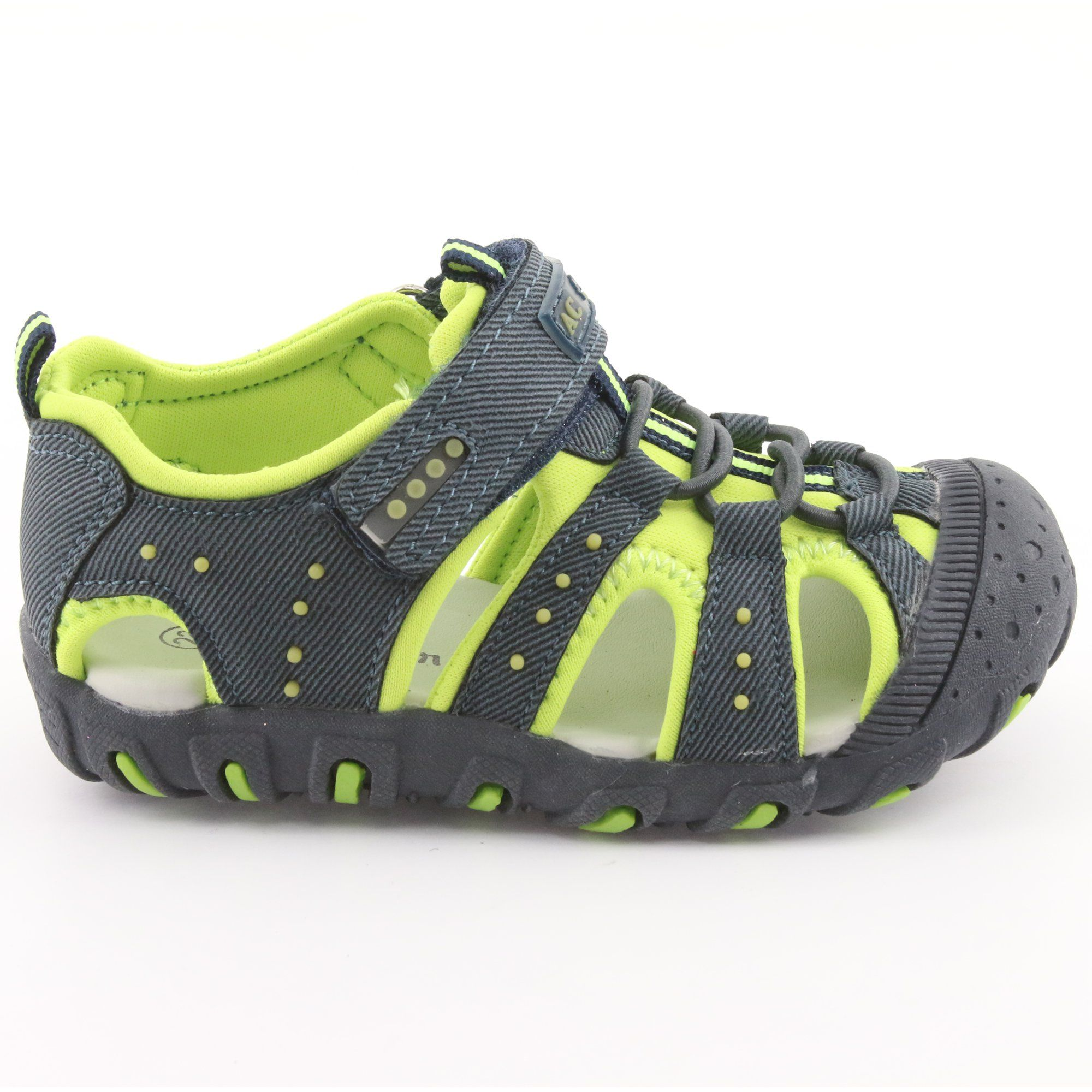 Sandalki Chlopiece Rzep American Club Dr11 Zielone Granatowe Childrens Shoes Kid Shoes Velcro
