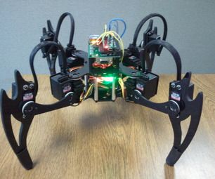 "Quadruped Four Feet Robot /""Hexapod/"" Spider Arduino DIY Robot KIT 12DOF NO SERVOS"