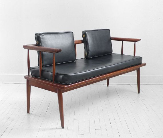 Mid Century Wood Sofa: Bench, Couch, Chair, Wood