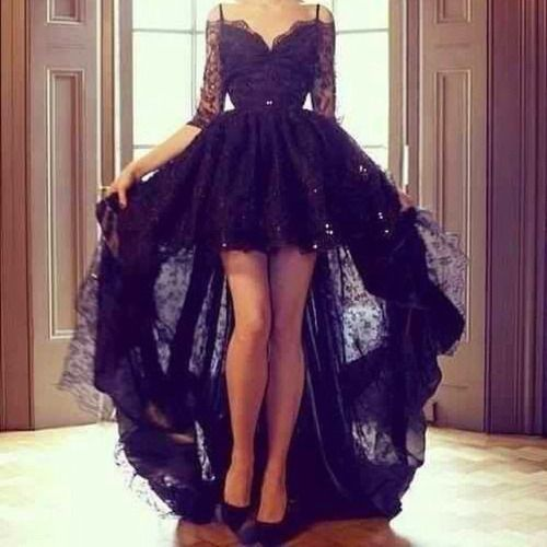 high low black dress | Tumblr | Black L over | Pinterest | Black ...