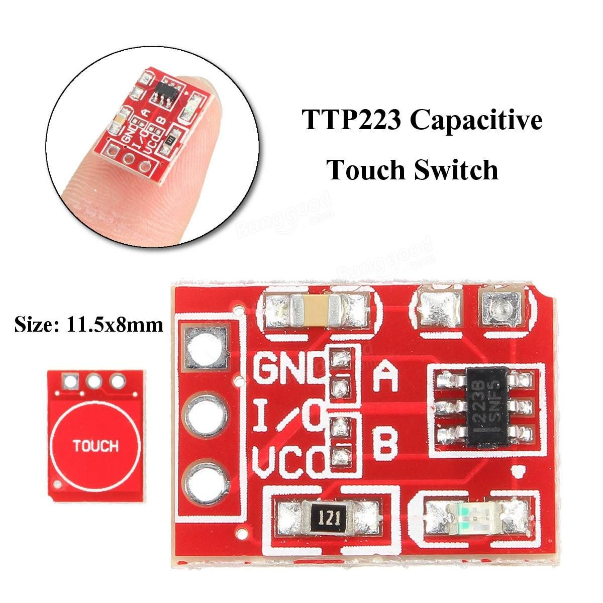 10pcs 25 55v Ttp223 Capacitive Touch Switch Button Self Lock Circuit Diagram Module For Arduino