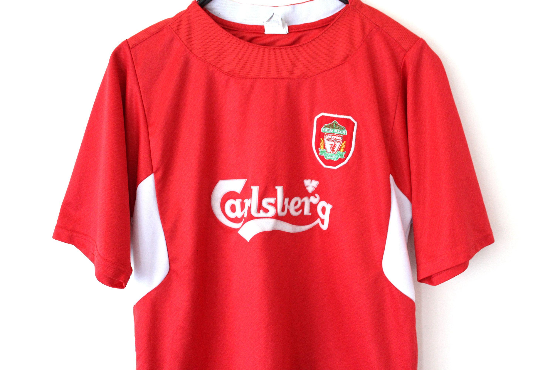 Vintage Liverpool Football Shirt Red White Football Jersey Etsy Soccer Shirts Football Shirts Training Shirts [ 2000 x 3000 Pixel ]