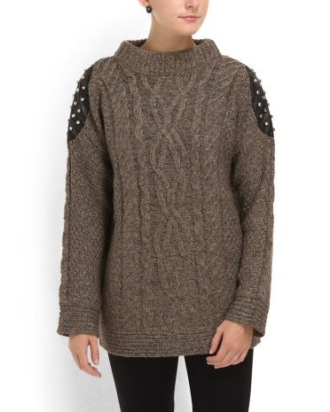 Fisherman Cable Sweater..Elizabeth and James