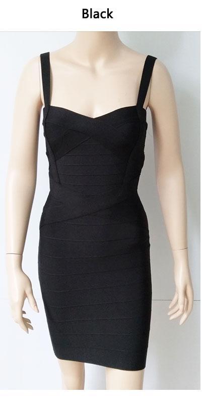 2017 New Women Sexy Spaghetti Strap Rayon HL Elastic Celebrity Bandage Dress Bodycon Mini Club Party Dresses Drop Ship HL8675