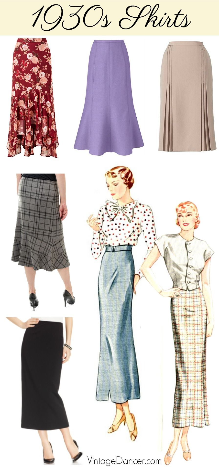 What Did Women Wear In The 1930s 1930s Fashion Guide 1930s Fashion Fashion Clothes Women Skirt Fashion