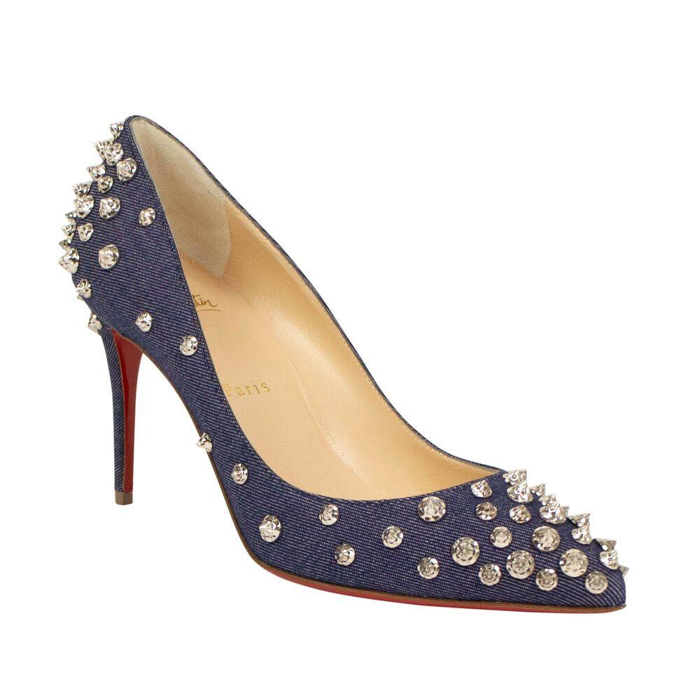ca3a8c44d9d eBay #Sponsored NIB CHRISTIAN LOUBOUTIN Aimantaclou Denim Studs 85mm Heels  Pumps 10/40 $1195