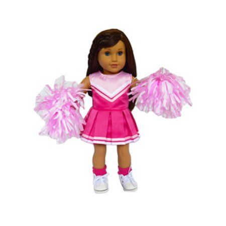My Brittany's Pink Cheerleader Outfit for American Girl Dolls-18 Inch Doll Clothes- Shoes and Socks Not Included - Walmart.com