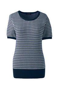 165dc8d392 Women s Short Sleeve Supima Jacquard Sweater