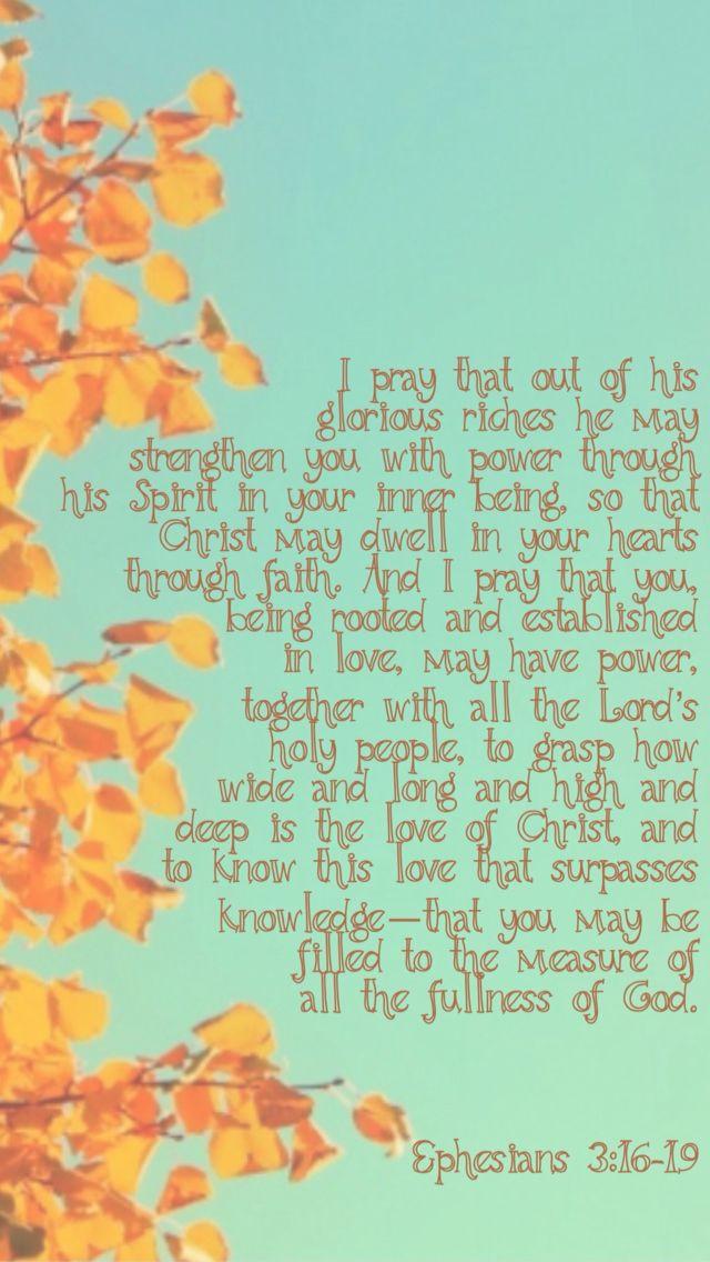 Godly Wallpaper Quotes Ephesians 3 16 19 Wallpaper Ssmt2015 Positive