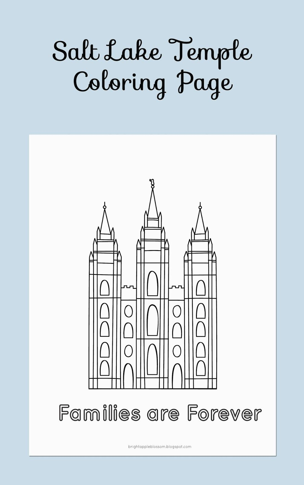 Free Salt Lake Temple Printable Lds Coloring Pages