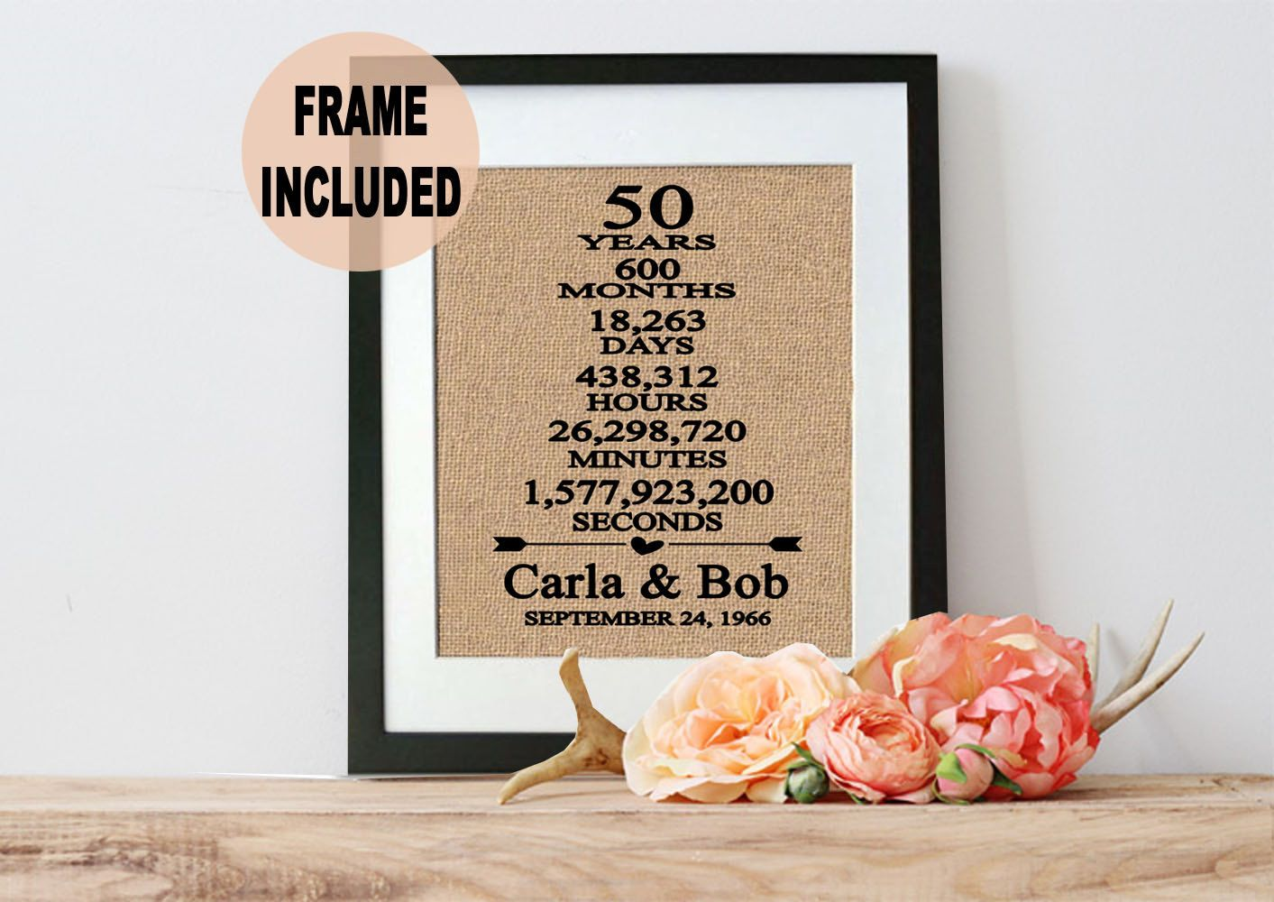 Unique Parent Wedding Gift Ideas: 50th Wedding Anniversary Gift, 50th Anniversary Gift, 50