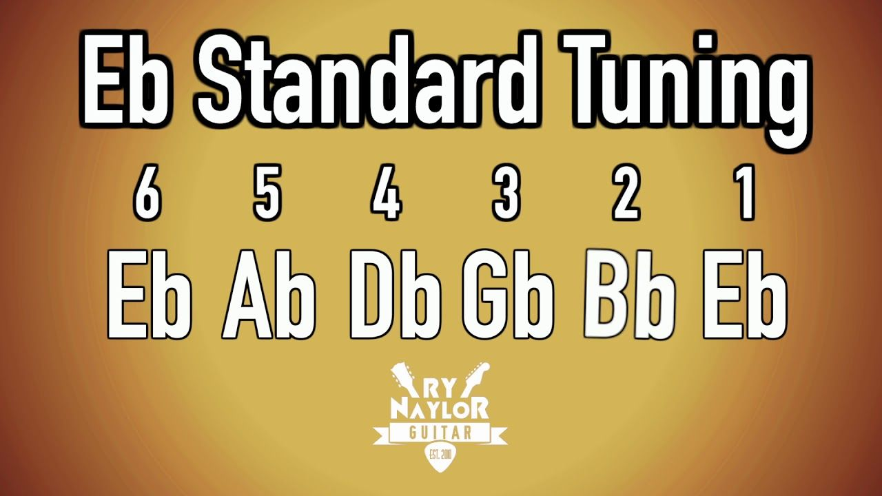 E Flat Standard Tuning Guitar Notes Guitar Tuner Half Step Down