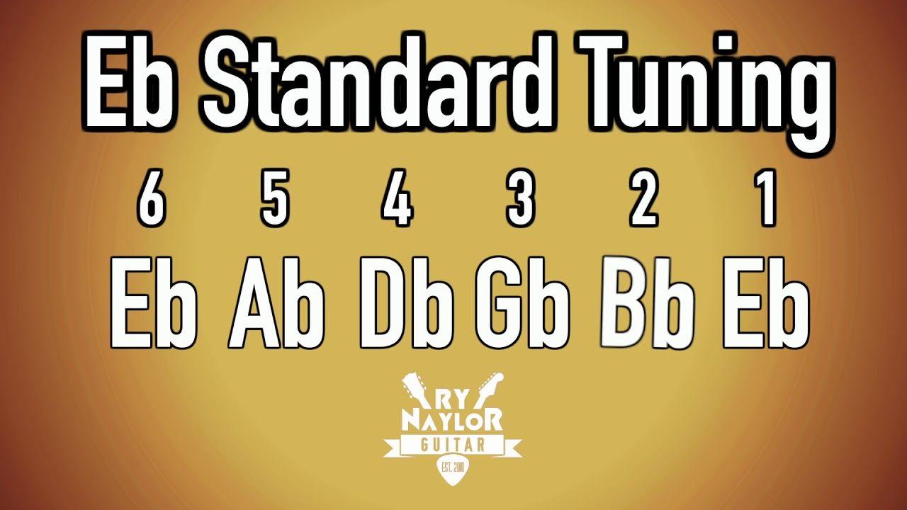 E flat standard tuning guitar notes guitar tuner half