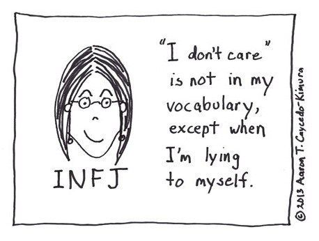 Also true for me, an ISFJ