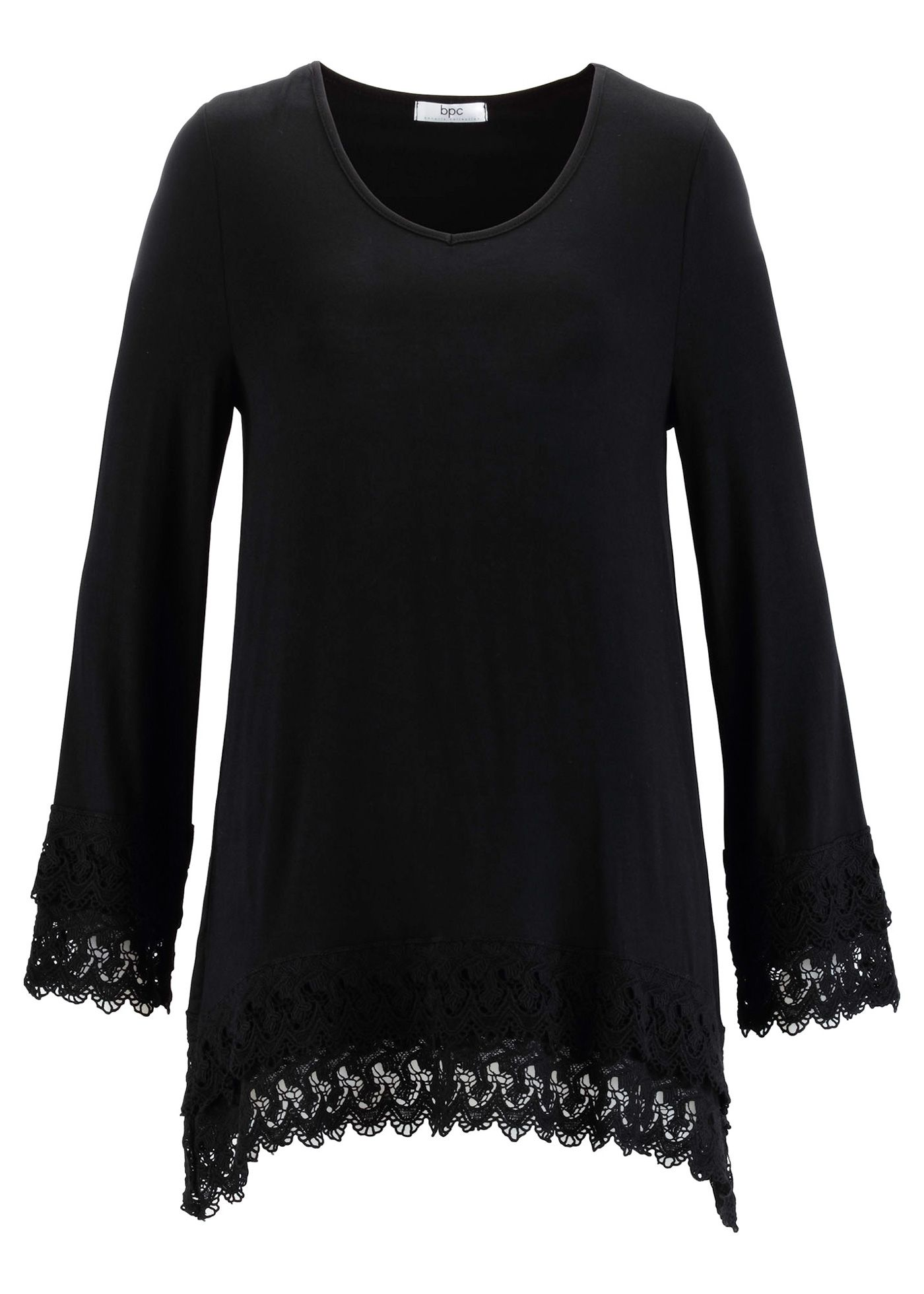 black tunic shirt with lace <3