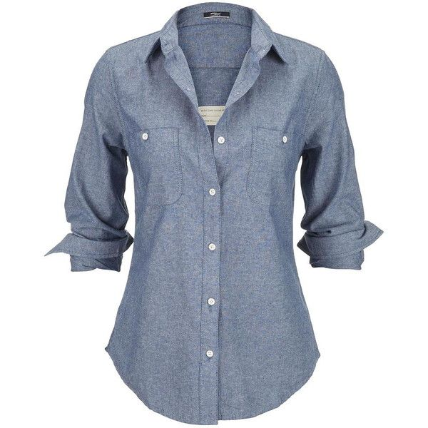 Silver Jeans Silver Jeans ® Button Down Denim Shirt ($60) ❤ liked ...