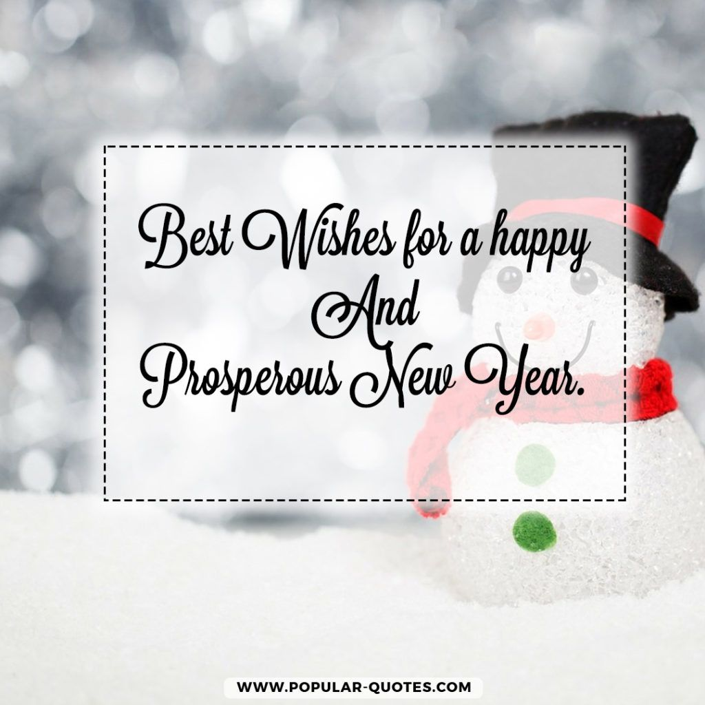 Best wishes for a happy and prosperous New Year.   Inspirational ...
