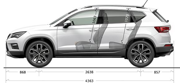 Seat Ateca Side Dimensions Specs Cars Rolling Carts