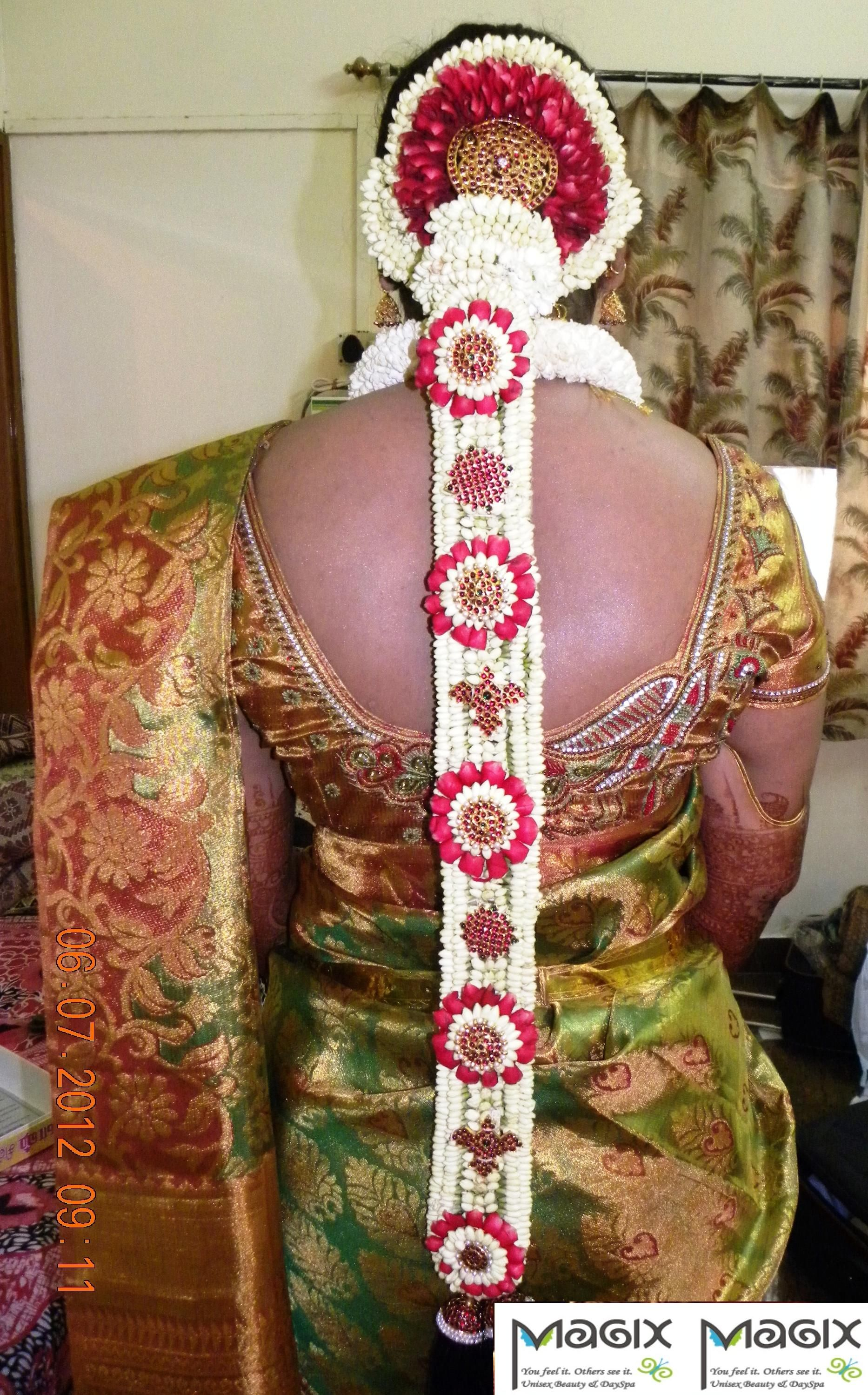 southindian bridal jade for muhurtham, bridal makeover by