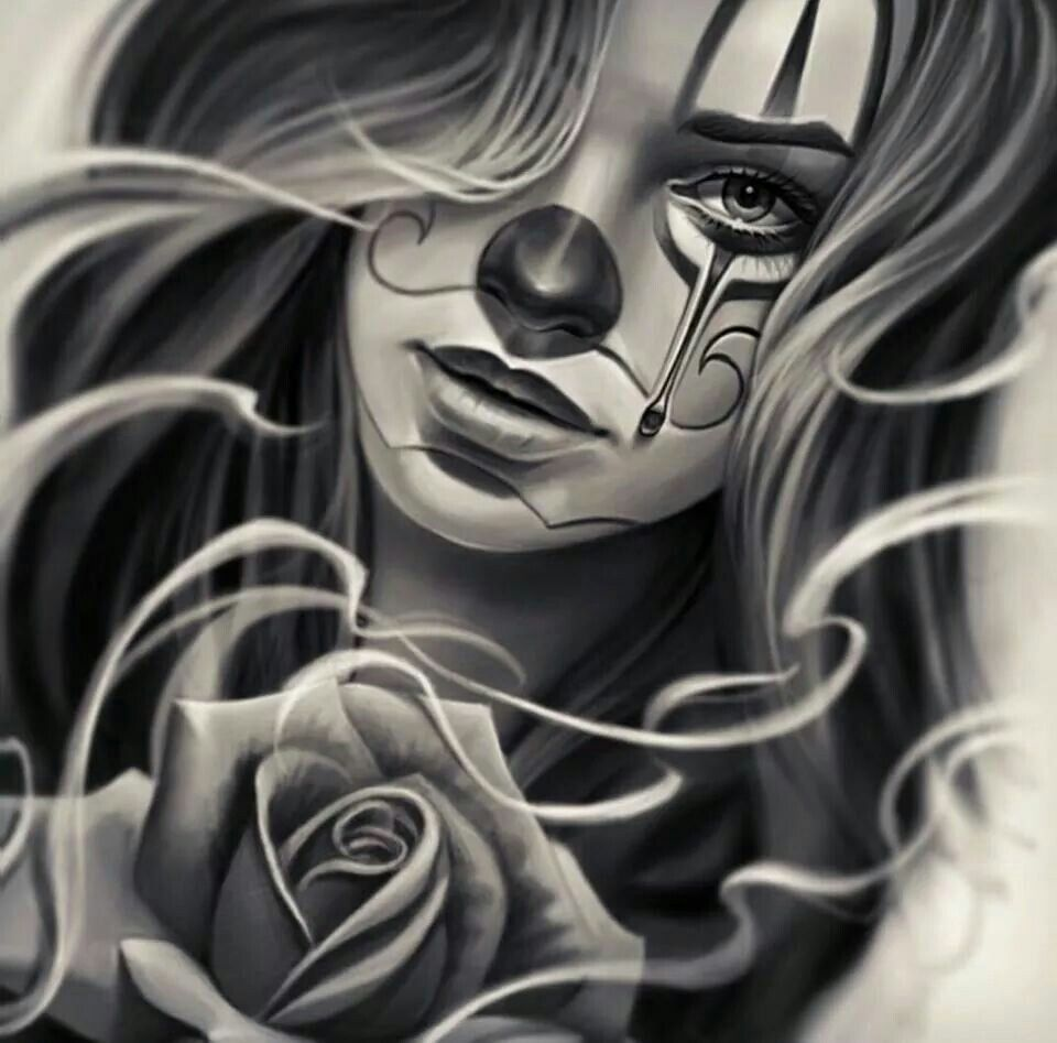 Gangster Sketches: Tattooed Gangster Cholas