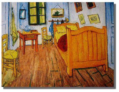 Van Gogh, Dormitorio de Van Gogh (1888) Etapa en Arles VINCENT - schlafzimmer in arles