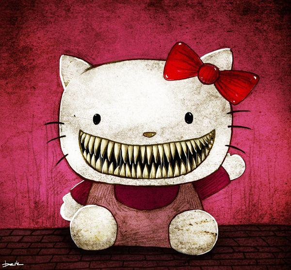 Hello Kitty by berk ozturk, via Behance