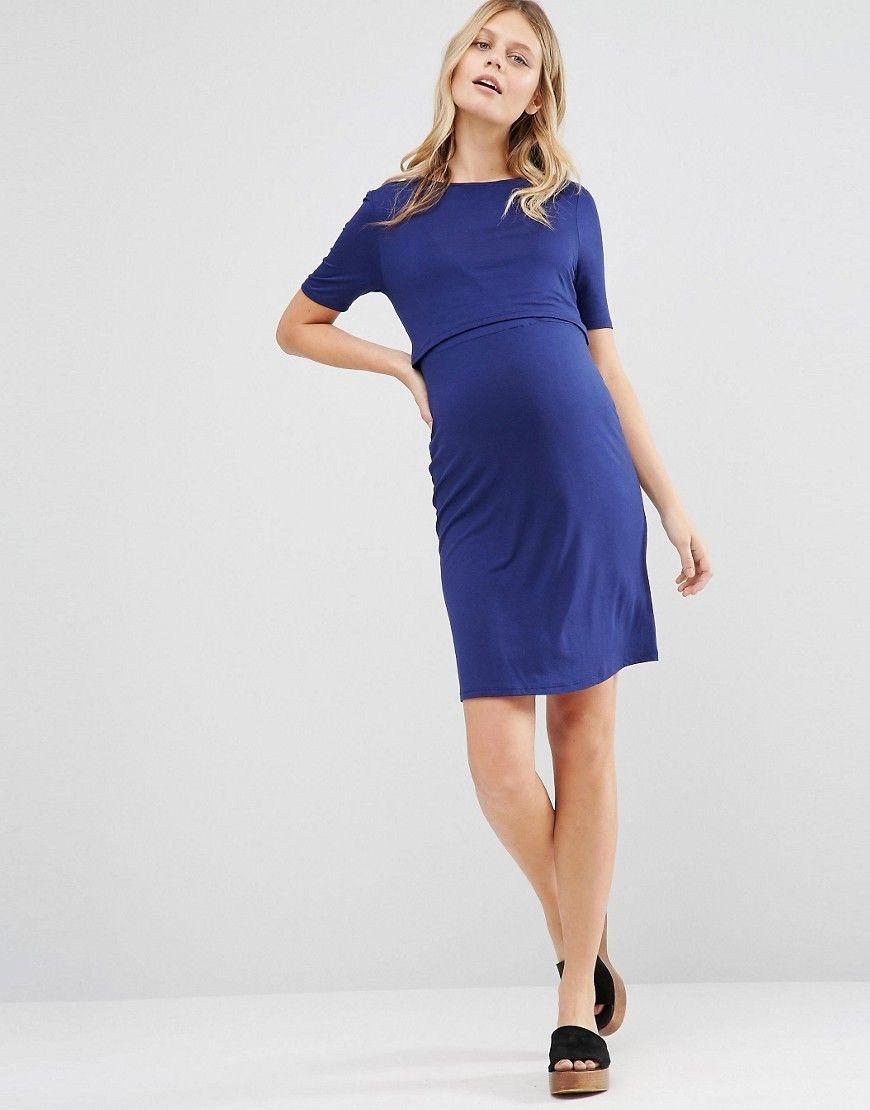 35f5eeef10bb1 New Look Maternity Sleeveless Double Layer Nursing T-Shirt Dress ...
