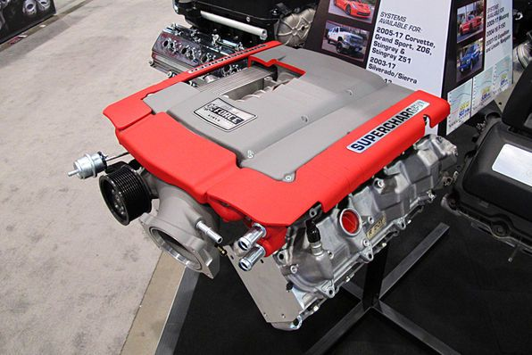 Edelbrock was showcasing their new E-Force Supercharger kit