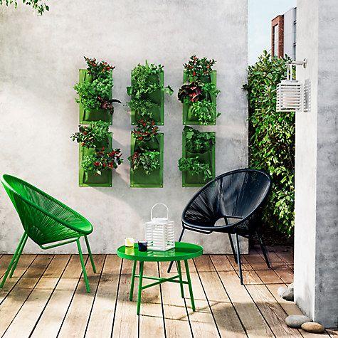 Burgon & Ball Vertical Wall Planter, Aubergine