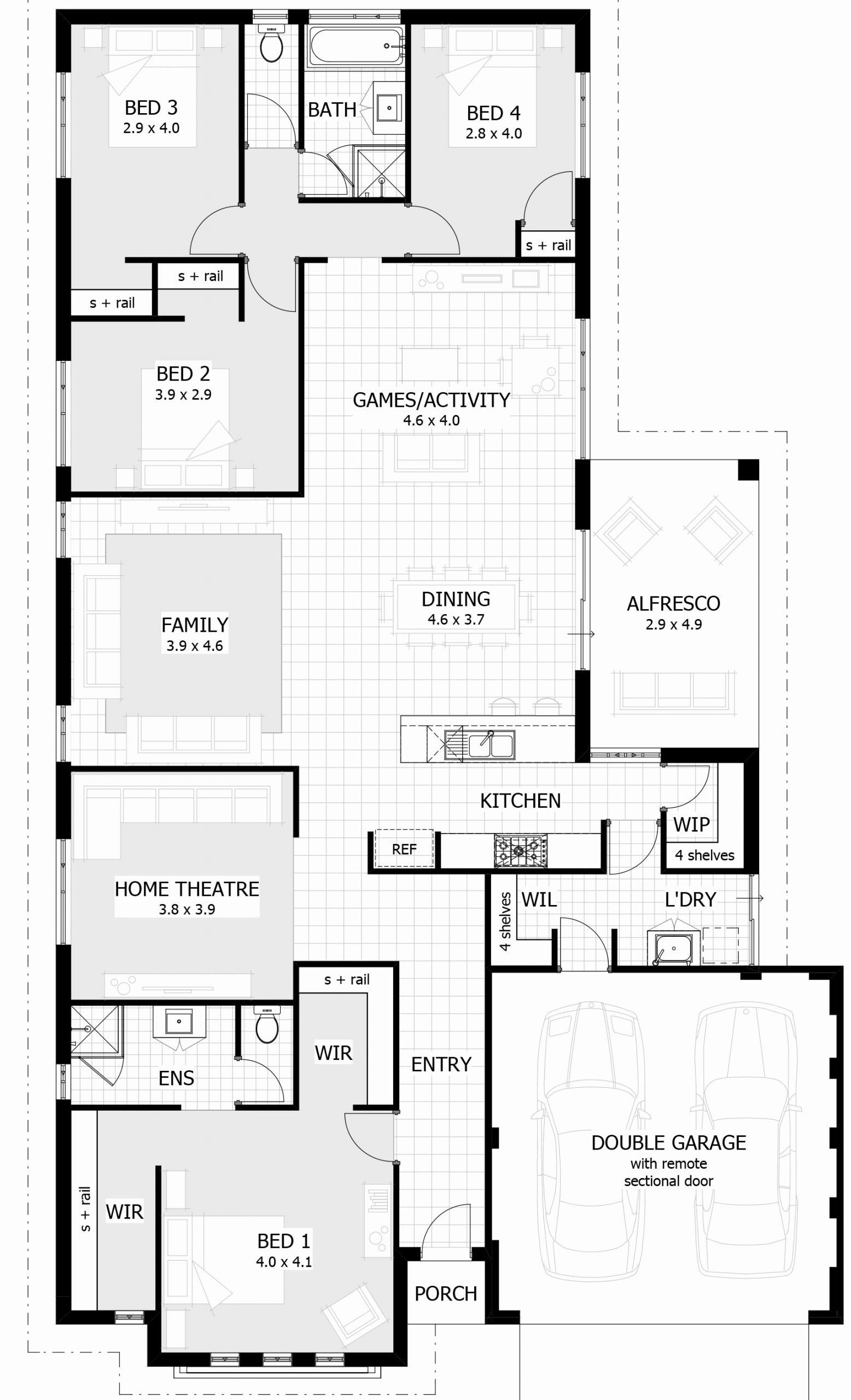 Simple 6 Bedroom House Plans Inspirational 15 Metre Wide Home Designs Celebration Homes 6 Bedroom House Plans Bedroom House Plans 4 Bedroom House Plans