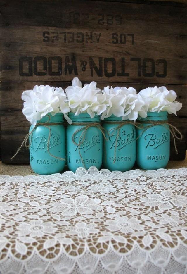 Teal Rustic Wedding Ideas | ...  Rustic Wedding Centerpieces Party