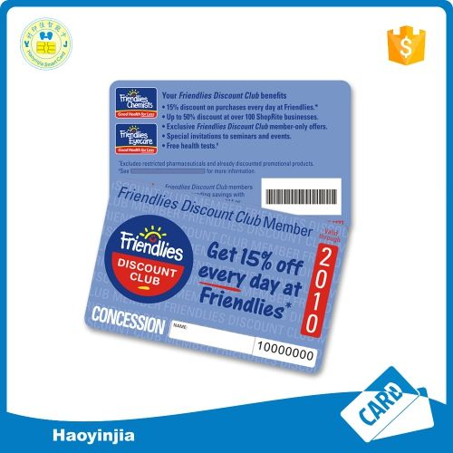 Credit Card Size 0.76mm Thickness Glossy Surface PVC