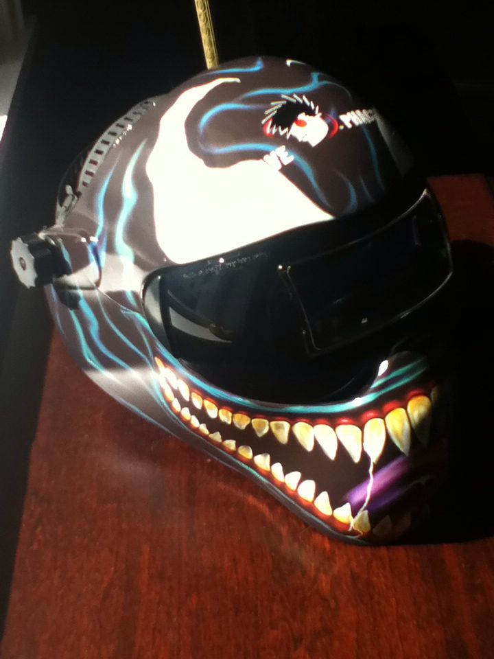 Favorite welding helmet I've used and own so far. Serves me well as work the magic that I do. For the heavens shine down nicely on this one.