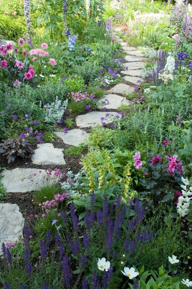 Stone Path Cottage Garden Design Beautiful Gardens Cottage Garden