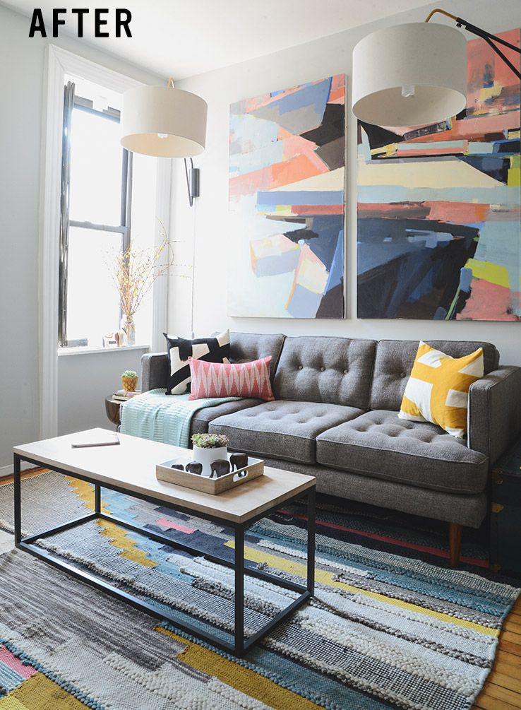 Justin\'s Revamped NYC Living Room | west elm | Living room ...
