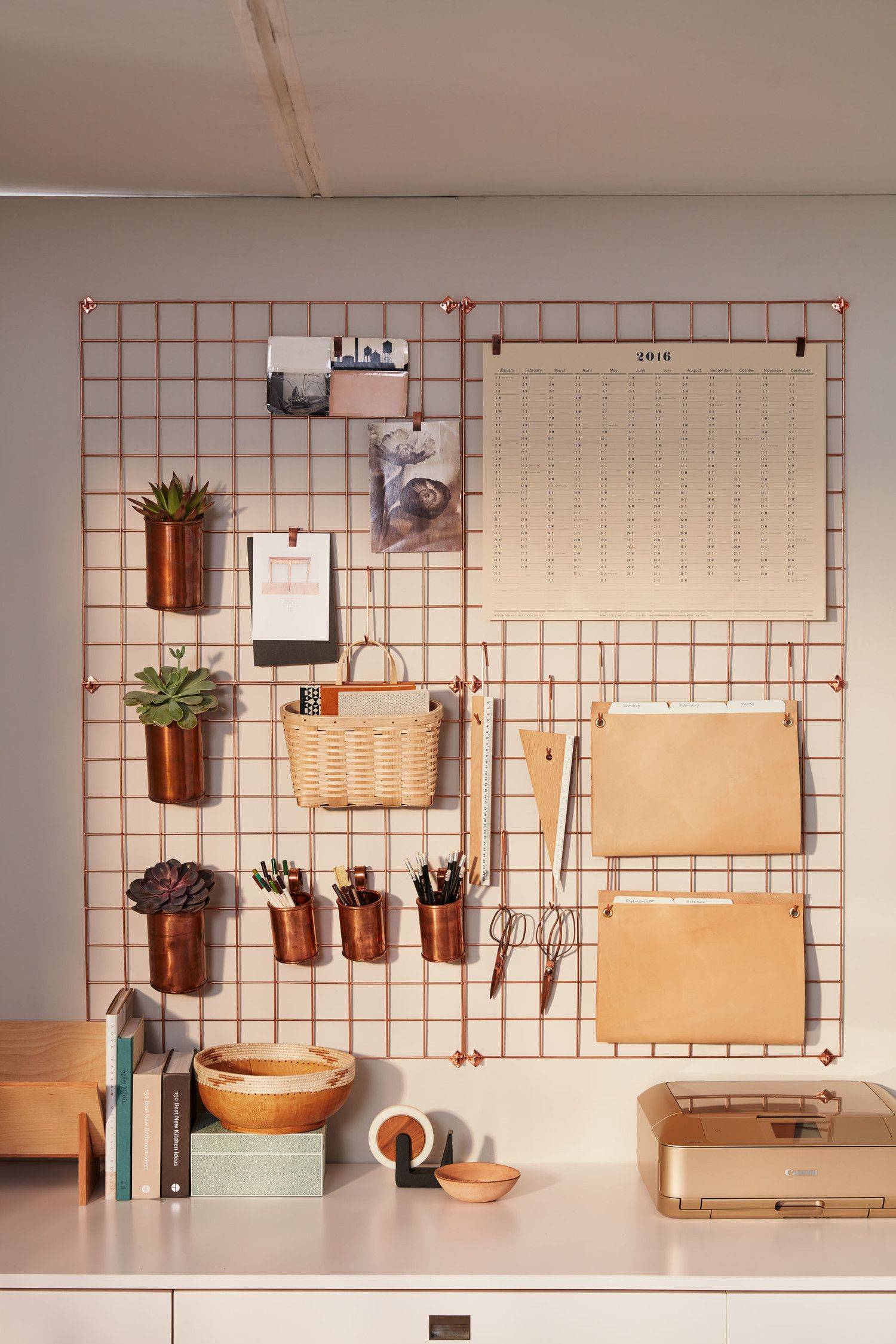 ultimate home office. Ultimate Home Office. To Keep Your Desktop Uncluttered, Hang Supplies And Folders From Hooks Clips On An Easy Access Grid. Office