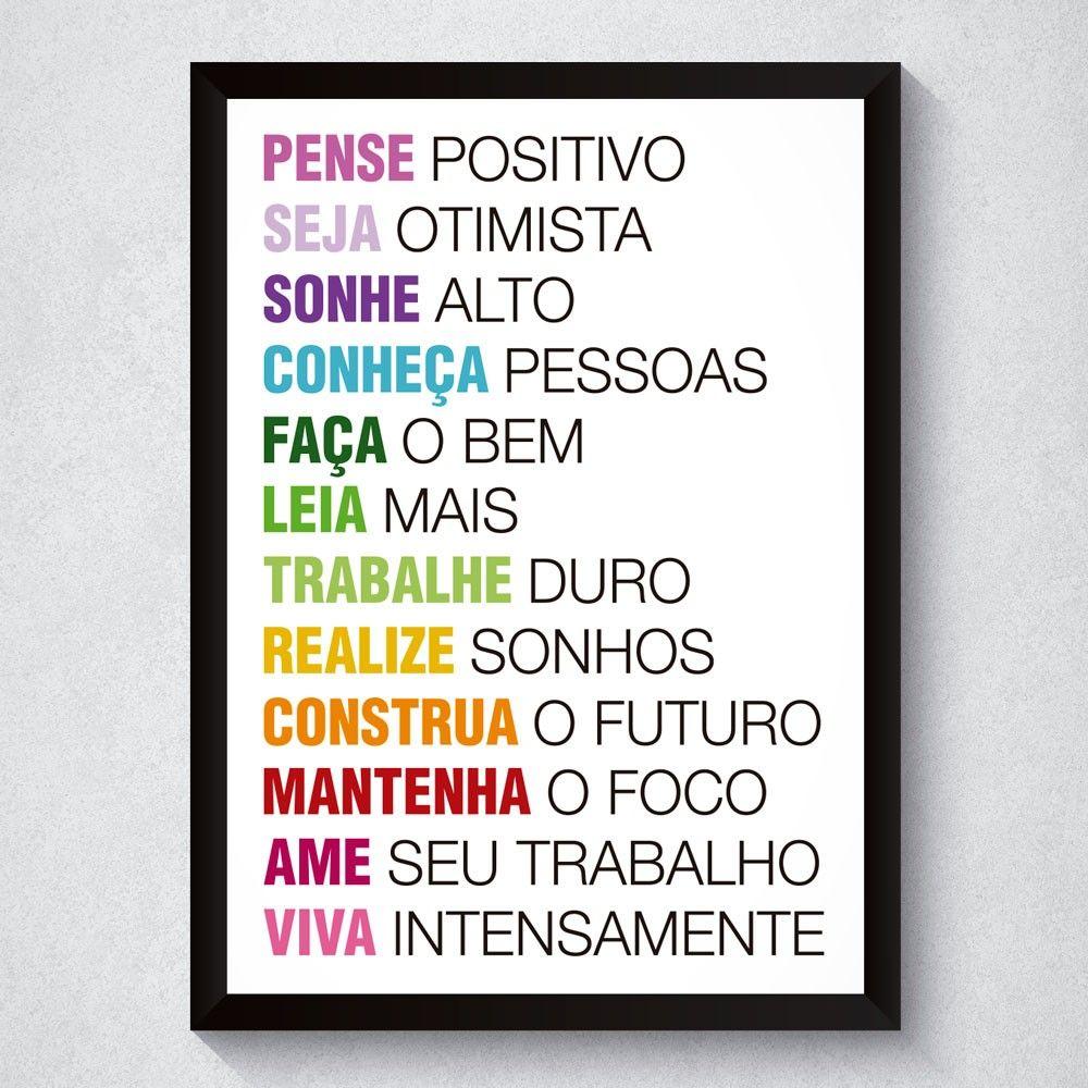 Quadro Com Frases Motivacionais Criativas Para A Vida Frases