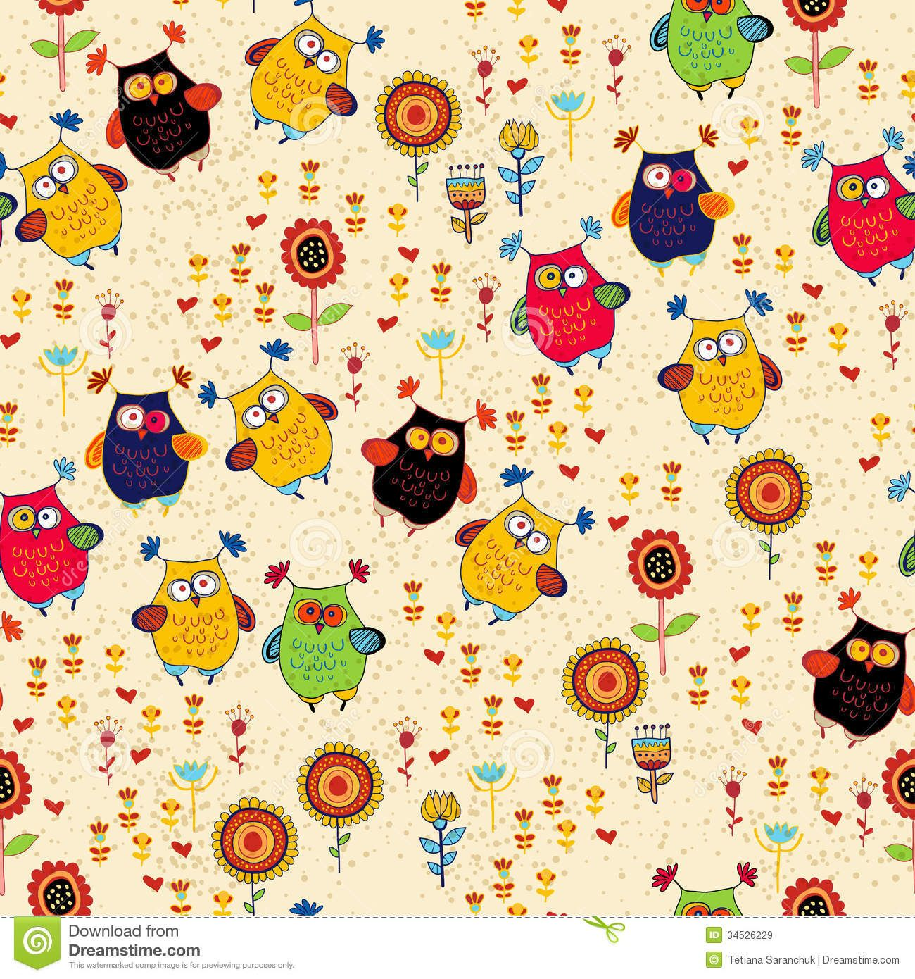 Free Owl Wallpapers: Colourful Circle Patterns - Google Search