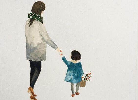 Mamma E Figlia Disegno.L Importanza Di Insegnare Ai Bambini A Dire Grazie Per Favore